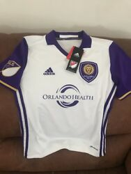 Adidas Climacool Orlando City Sc Mls Soccer Jersey Nwt Size M Youth