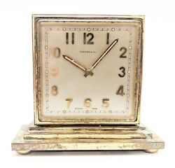 Vintage And Co. Concord Gilt-brass Double-dialed Eight-day Desk Clock 219