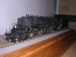 Brass N.j.custom Reading N-1 2-8-8-0 Artic.steam Loco No Wdcc And Sound 1/87