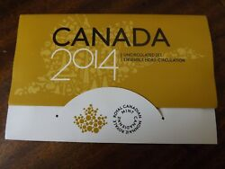 2014 Canada Limited Edition Of 75,000 Uncirculated Set Canadian Coins