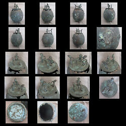 Collection Of X10 Antique Bronze African Tribal Items - Congo, Ghana, Etc.