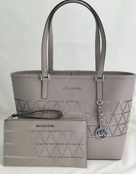 MICHAEL Michael Kors Jet Set Travel Med Carryall Leather Tote & Matching Clutch