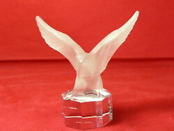 Goebel Frosted Crystal Eagle In Flight Figurine/paperweight