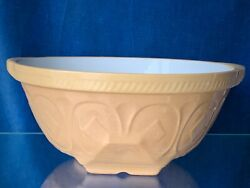 Antique Queen Of Diamonds Green's Pottery Dough Bowl Mixing Made In England ❤️m9