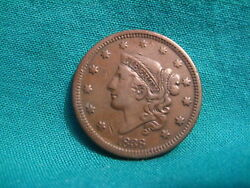 1838 Matron Head Large Cent-full Strong Liberty-nice Details-vf/xf Condition-6