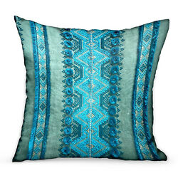 Plutus Alexandrite Stripe Green Geometric Luxury Throw Pillow Double Sided 16...