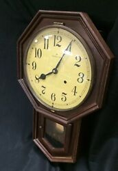 Hamilton Wall Clock With Hour Strike and Instructions