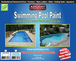 Swimming Pool Paint 2-part Epoxy Acrylic Coating 1gallon Kit Cool Blue Color