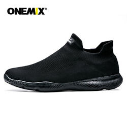 Onemix Men One-piece Socks Shoes Lightweight Wrinkle Resistance Casual Shoes