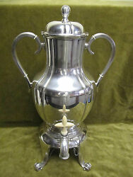 Large Art Deco 1925 French Sterling Silver Samovar Hot Water Fountain 2138gr