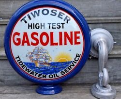Tiwoser High Test Tidewater Oil Service Reproduction 2 Sided Wall Lamp Sconce