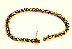 And Co. Bracelet 14k Yellow Gold Russian Weave Link 7 X 4mm Heavy 10.6g