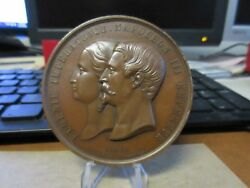 1855 France Exposition Universelle / Palace Of Industry Bronze Medal 68mm