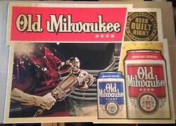 Old Milwaukee Beer Signs - Floor/wall Vinyl Decals Stickers - Nos Man Cave Party