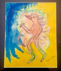 Phyllis Diller Rare One Of A Kind Original Watercolor Painting