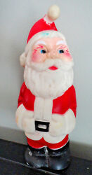 Vintage 1970's Christmas Santa Claus Rubber 8 Squeeky Toy