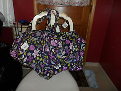Vera Bradley Large And Small Duffel Bag Travel Set In Floral Nightingale 1