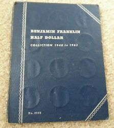 Franklin Half Dollar 1948-1964 Complete 35 Silver Coin Set,circulated P,s,d