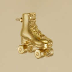 3 Dimensional Roller Skate Charm Jewelry 925 Sterling Silver Or 22 K Gold