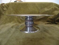 Art Deco Silverplate And Wood Christofle Centerpiece Bowl Designed By Luc Lanel