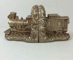 Vintage Universal Statuary Corp 1099 Chicago 1964 Heavy Train Caboose Bookends