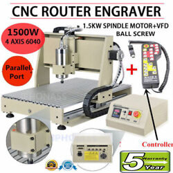 CNC 6040T Router 4Axis 1500W Engraving Milling Drilling Carving Machine Cutter