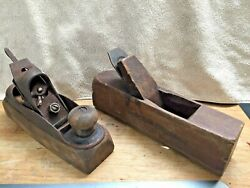 Stanley Rule And Level No 22/ J.r.tolman Wood Plane Lot Transitional And Wood