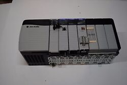 Allen Bradley Controllogix Loaded 7 Slot Rack Complete System With 1756-l63