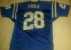 Marshall Faulk Wilson Authentic Collectible Nfl Jersey Indiana Colts 28 Mvp Xxl