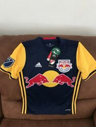 Adidas New York Red Bulls Mls Soccer Jersey New With Tags Size Medium Youth