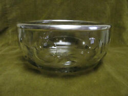20th C French Crystal And Sterling Silver Fruit Bowl Circles