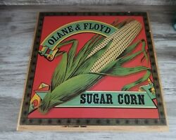 Vintage Sweet Corn Wood Sign Country Kitchen Farm Olane And Floyd