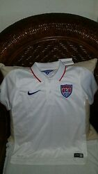 Usa 2014 Nike Replica World Cup Soccer Polo Jersey White Size S Youth