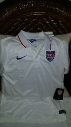 Usa 2014 Nike Replica World Cup Soccer Polo Jersey White Size L Youth