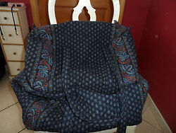 Vera Bradley Xl And Large Duffel Bag Travel Set In Retired Classic Navy Pattern