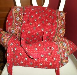 Vera Bradley Large And Small Duffel Bag Travel Set In Provencial
