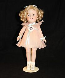 14 Danbury Mint All Porcelain Doll Shirley Temple Curly Top The Worlds Darling