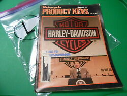 Harley Davidson Motorcycles Product News Magazine August 1987 71 Pages L