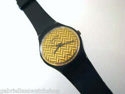 Lb100 1983 Gold Weave Design Collectible Ladies Swatch, 7 Hole Band-very Rare