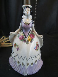 Vintage Lamp Porcelain With German Figurine Numbered From Germany