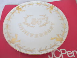 Lefton China Collectors Plate 50th Anniversary Gold Plated Plate