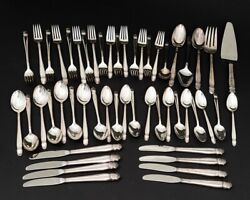 50-pc Holmes And Edwards 1938 Silverplate And039danish Princessand039 Flatware International