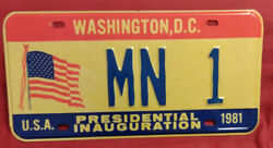 1981 District Of Columbia Mn-1 Minnesota Inaugural License Plate