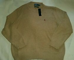 Polo Ralph Lauren Pony Patch Knitted RRL Crewneck Sweater RLPC 1967 2XL