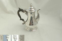 Rare George Ii Hm Sterling Silver Chocolate Pot 1758