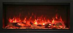 42 Extra Tall Clean Face Symmetry Electric Fireplace W/rustic Logs