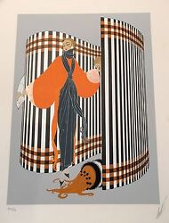 Erte Romain De Tirtoff 1981 Serigraph And039and039coquetteand039and039 Signed And Numbered Xl/lx