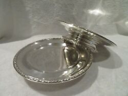 Early 20th C French Sterling Silver 2 Footed Fruit Bowls Louis Xvi St 1kg 355oz