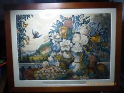 Original Large Best 50 Candi Lithograph Print And039landscape Fruit Flowersand039 New Price