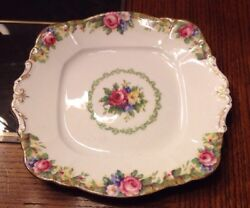 Paragon Tapestry Rose Plate Fine Bone China The Queen Mary